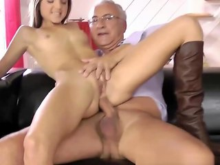 Young Brunette Gets It Doggystyle By Old Hdzog Free Xxx Hd High Quality Sex Tube