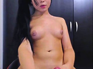 Asian Teen Transsexual Masturbates On Cam